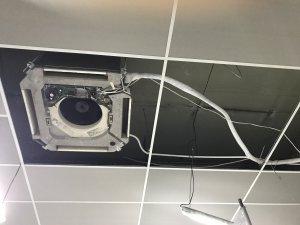 Montaż klimatyzatora kasetonowego Panasonic