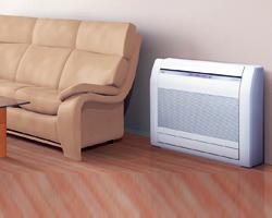 klimatyzator naścienny lub system typu split-wall