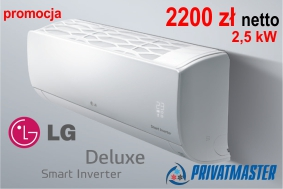 Klimatyzatory LG DELUXE promocja